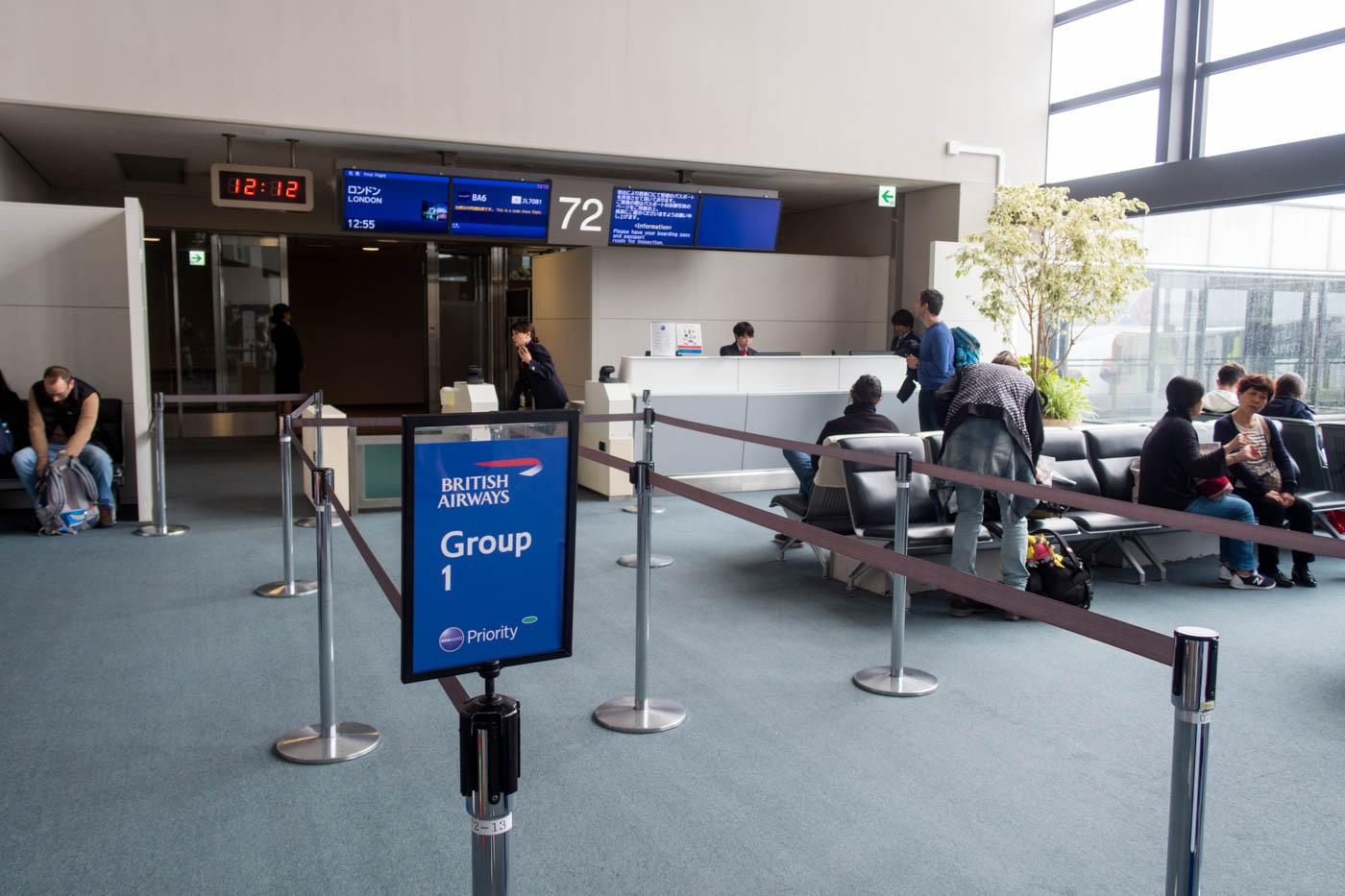 Boarding British Airways Flight 6