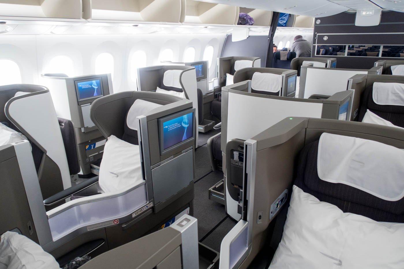 British Airways 787-9 Business Class
