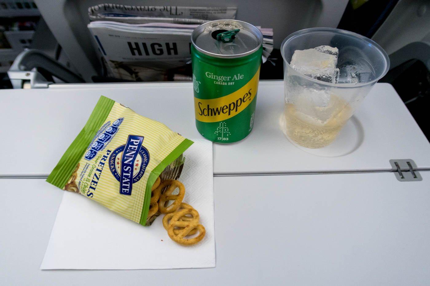 British Airways First Meal Course