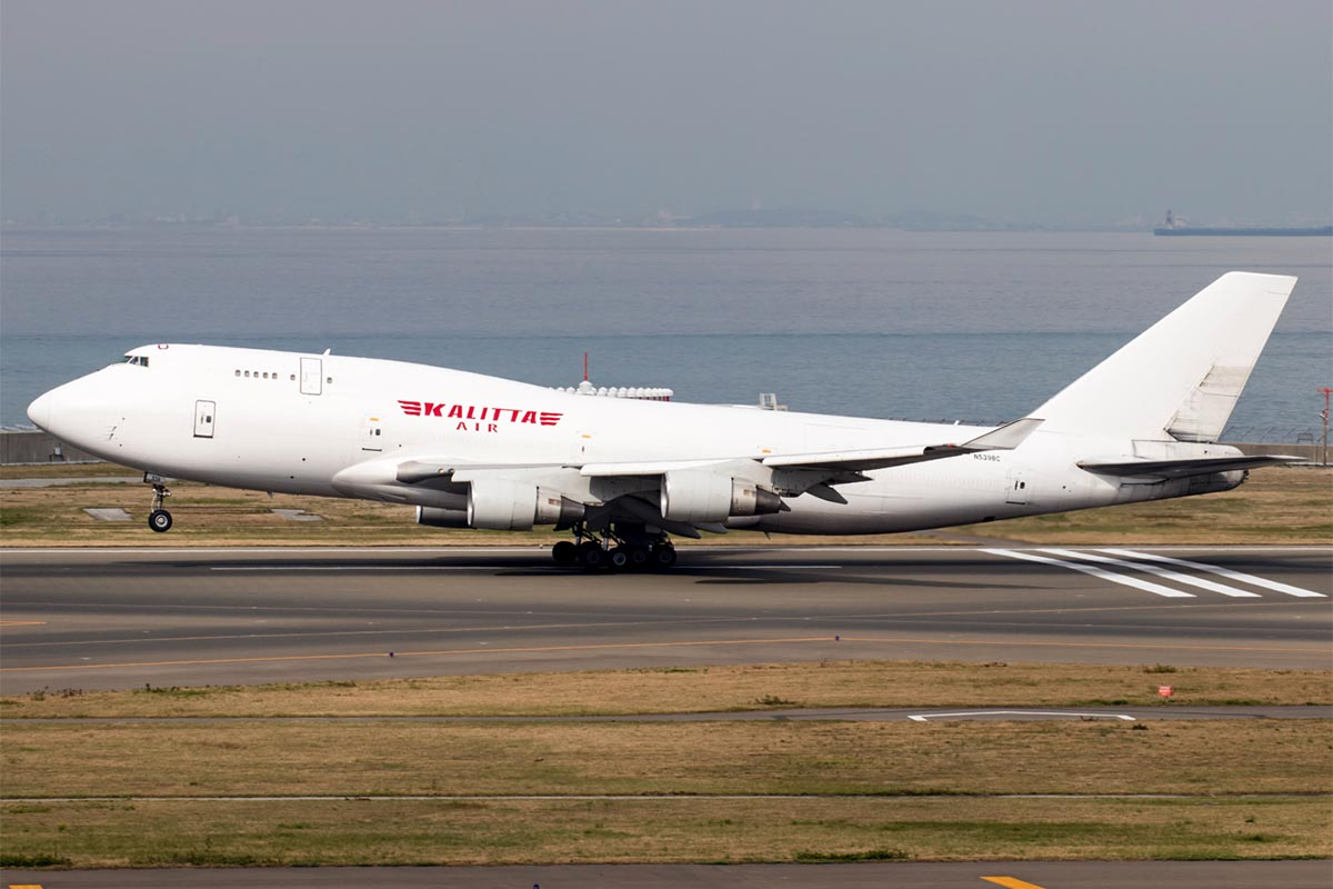 Kalitta Air 747 at Nagoya Centrair