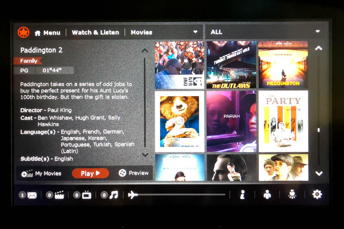 Air Canada Movies