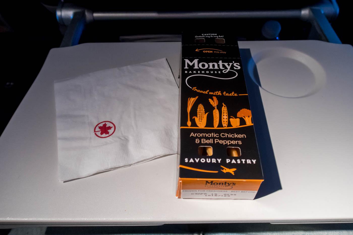 Air Canada Economy Class Pre-Landing Snack