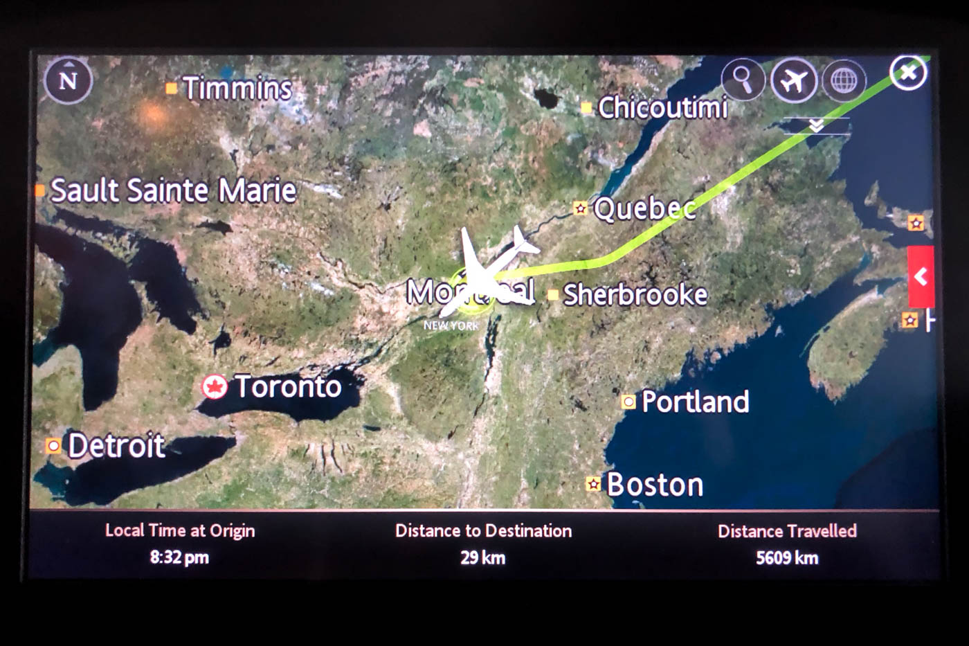 Landing in Montreal