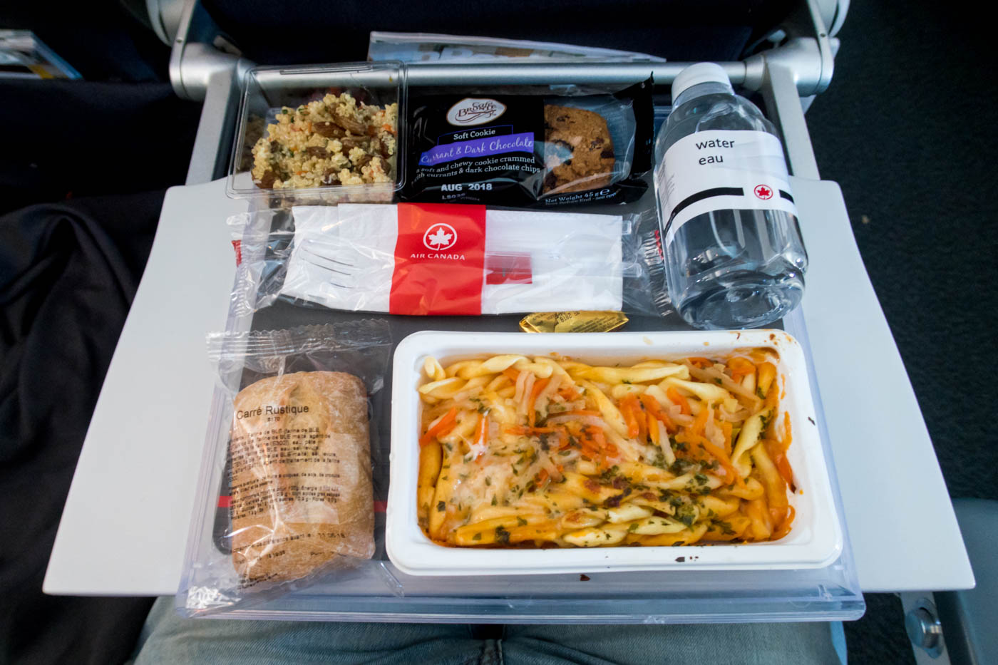 Air Canada Economy Class Meal