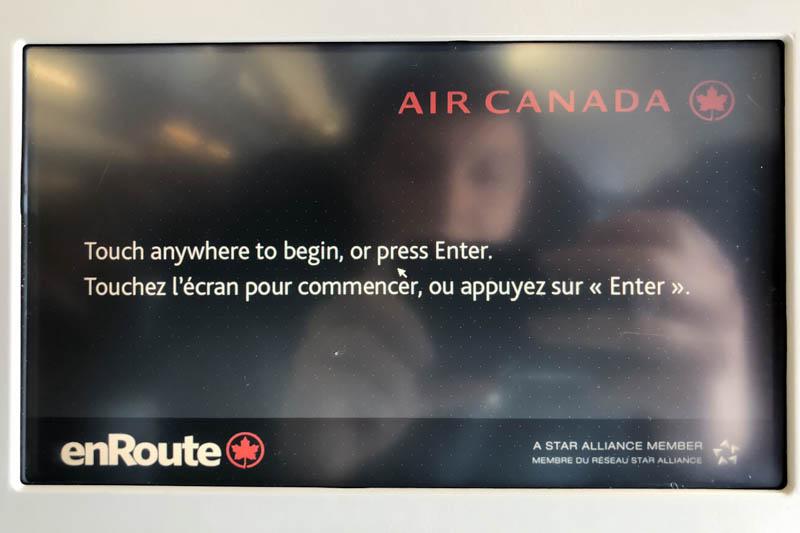 Air Canada A330-300 IFE