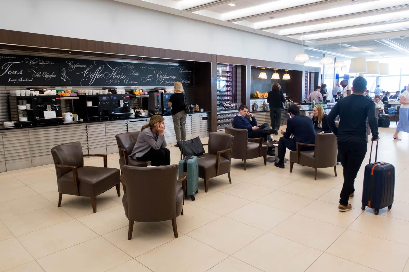 Coffee Area in British Airways Lounge at Heathrow