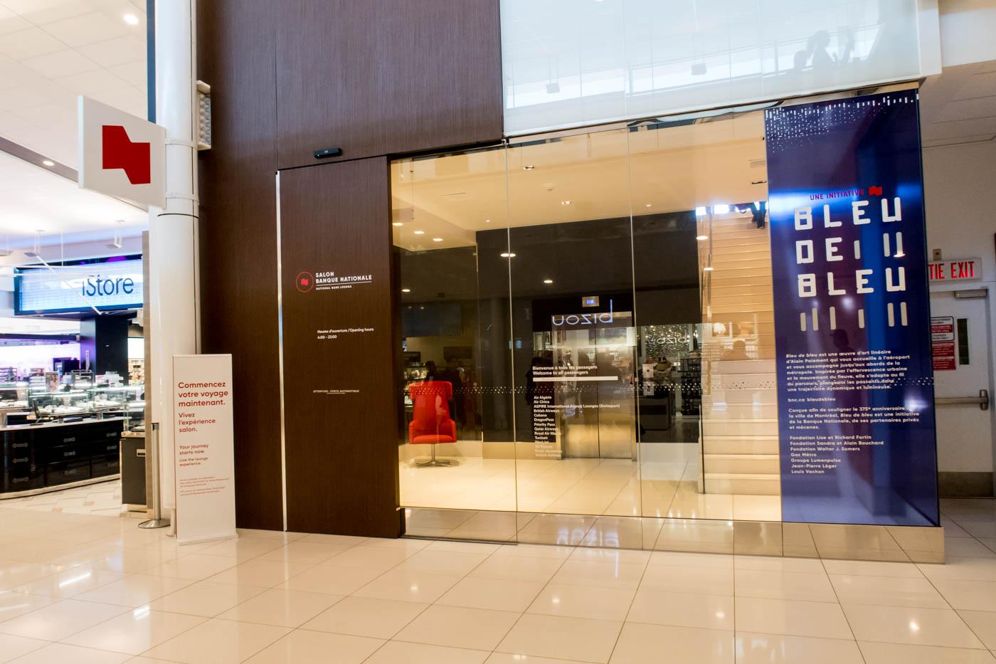 National Bank World Mastercard Lounge Entrance