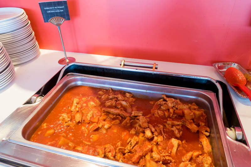 Chicken Goulash in Mastercard Lounge Montreal