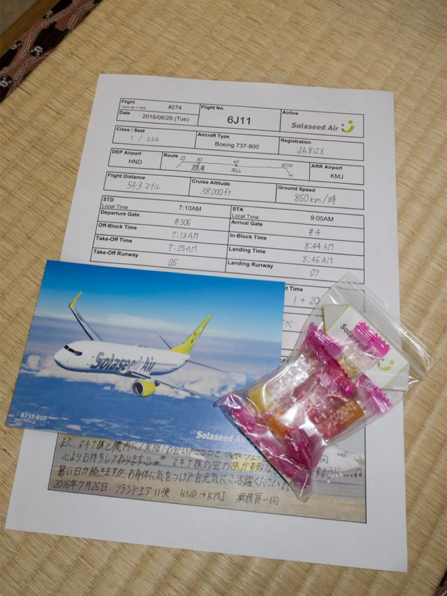 Flight Log Book in Japan