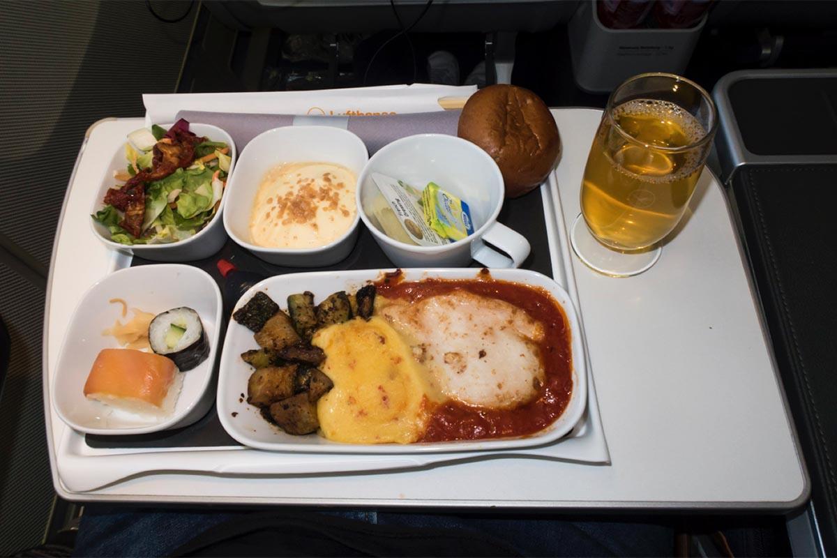 Premium Economy Class Meal