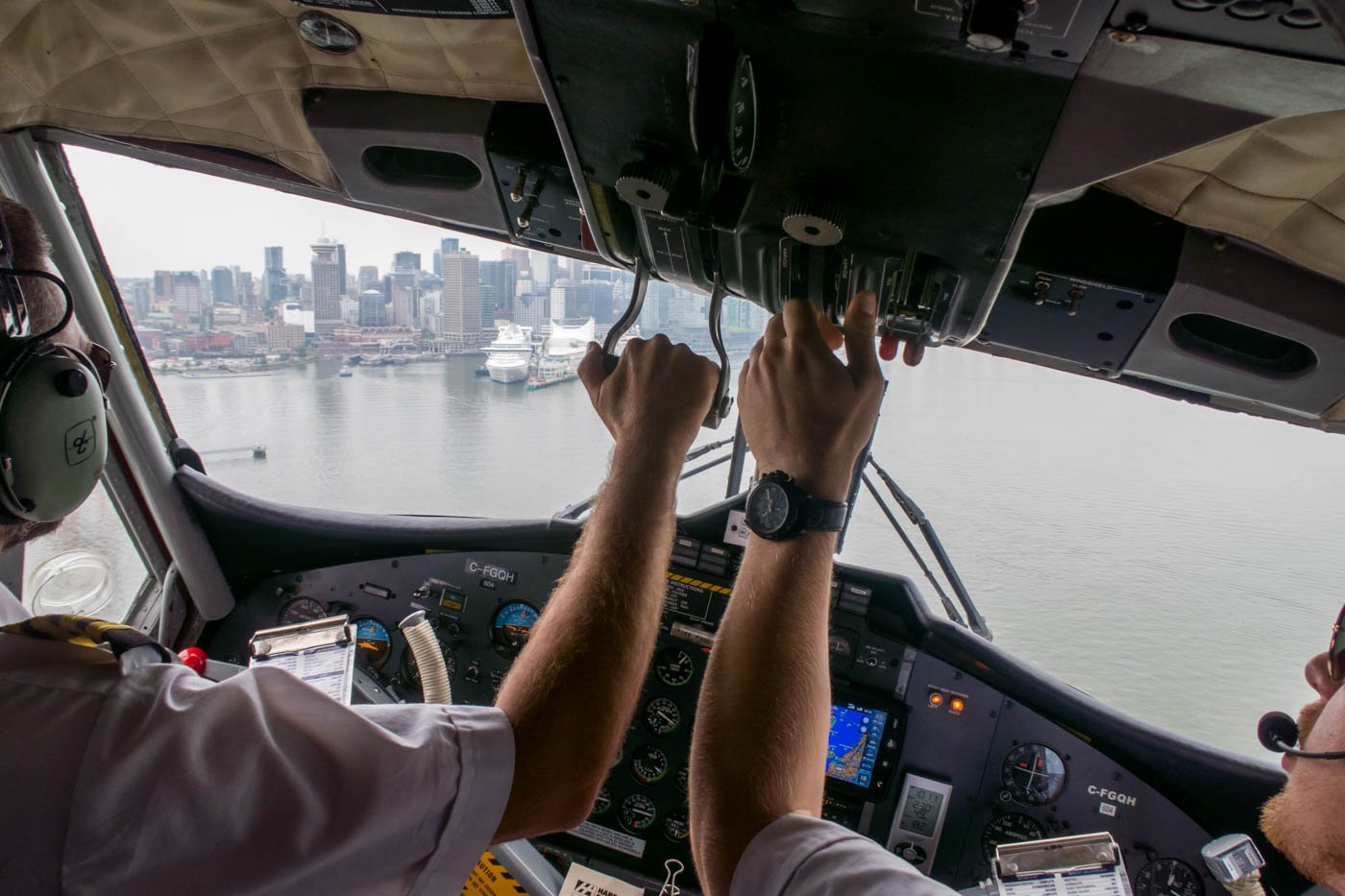 Approaching Vancouver Harbour Airport