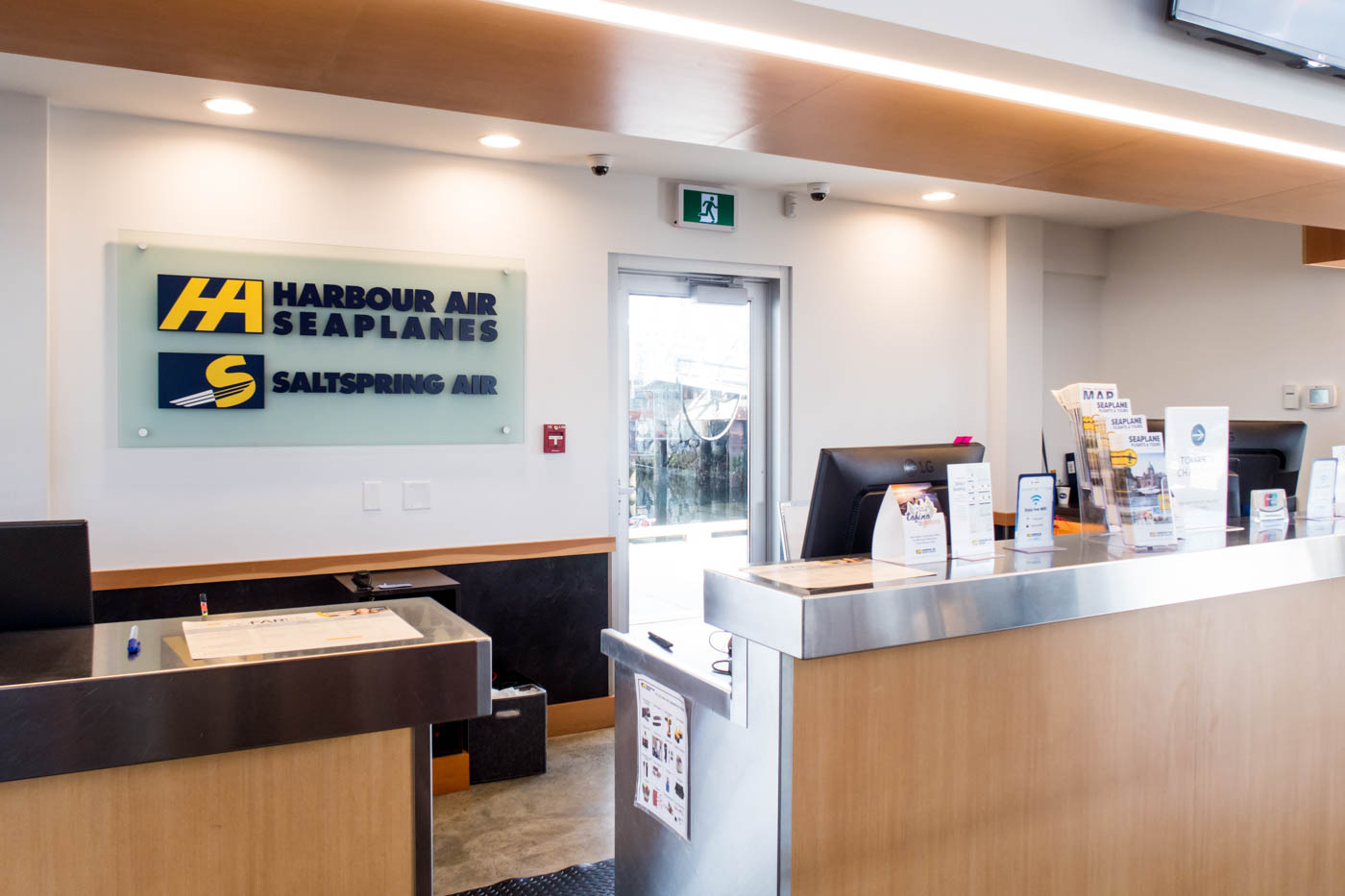 Harbour Air Check-in Counter at Victoria Harbour Airport
