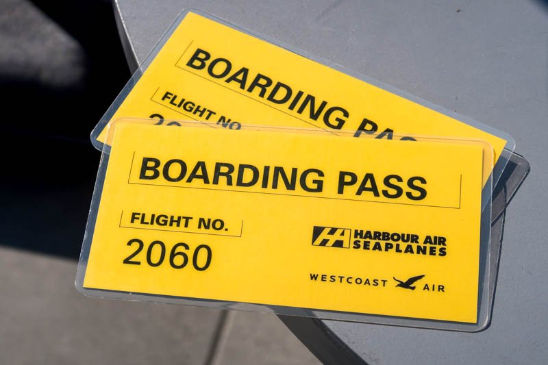 Harbour Air Boarding Pass for Flight No. 2060