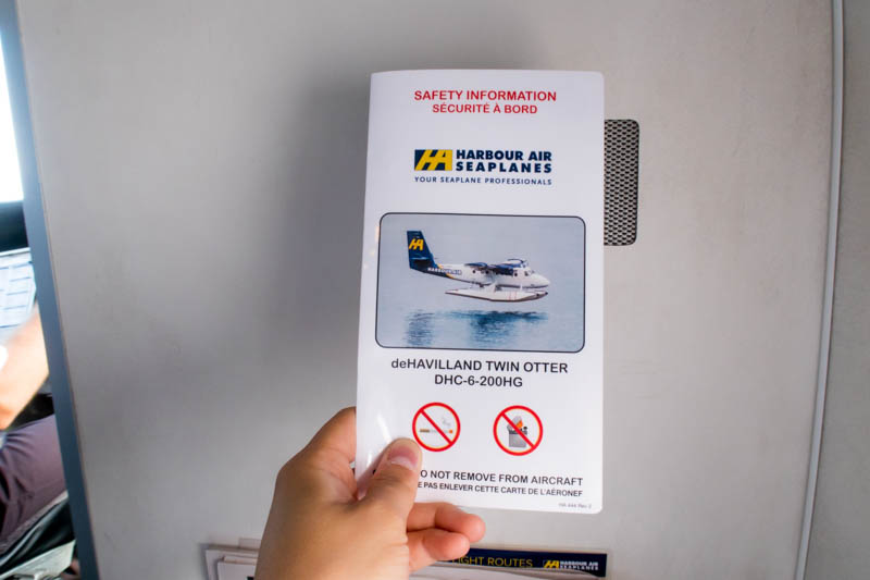 Harbour Air Twin Otter Safety Card