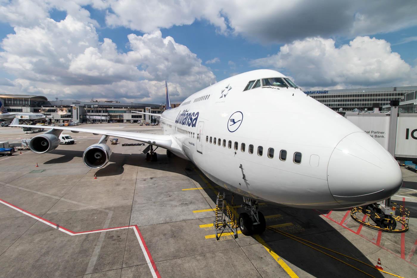 Lufthansa Boeing 747-400 at Frankfurt Airport