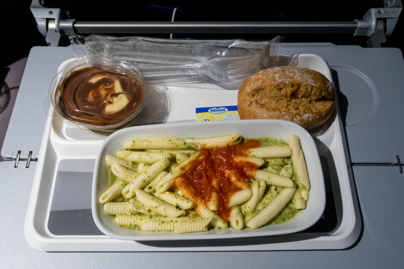 Lufthansa Meal - Vegetarian Pasta