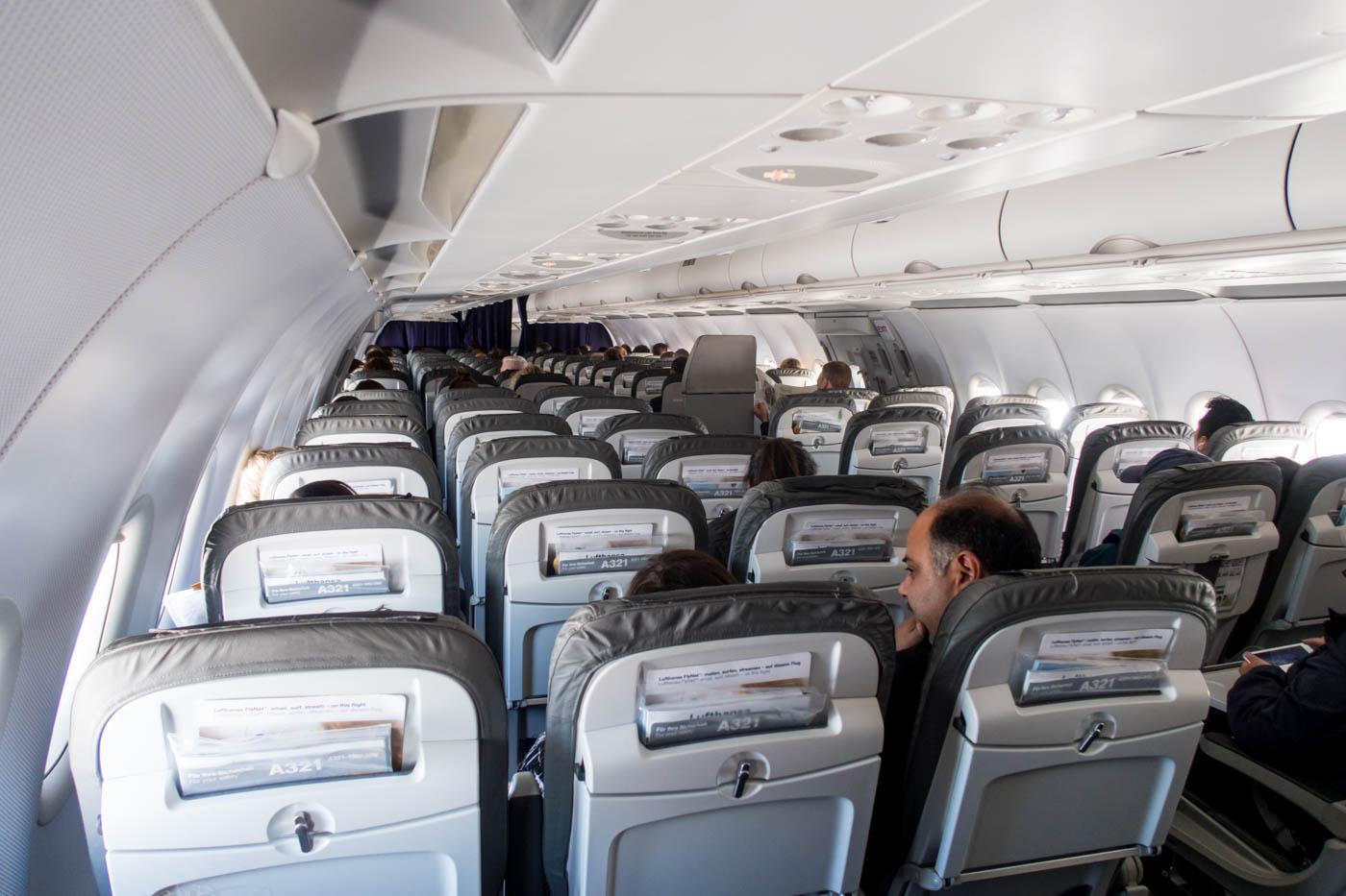 Lufthansa A321 Economy Class Cabin