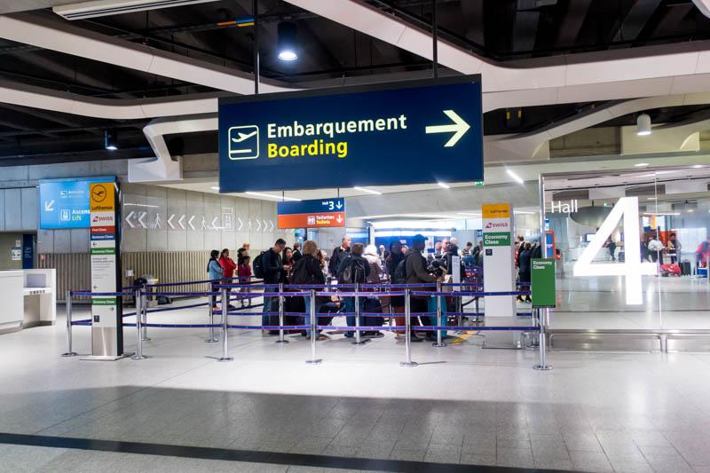 Lufthansa Check-in at Paris CDG