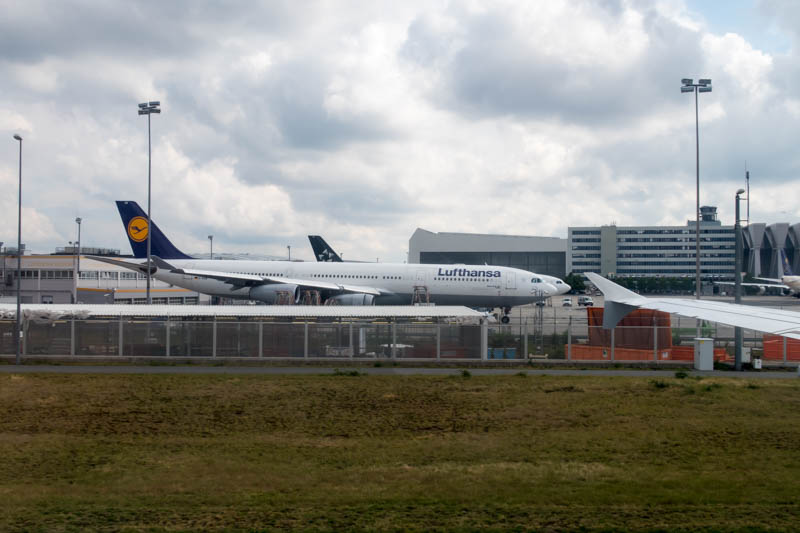 Taxiing at Frankfurt Airport