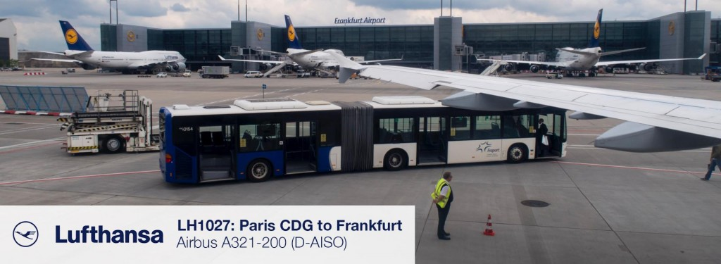 Flight Review: Lufthansa A321 Economy Class from Paris CDG to Frankfurt