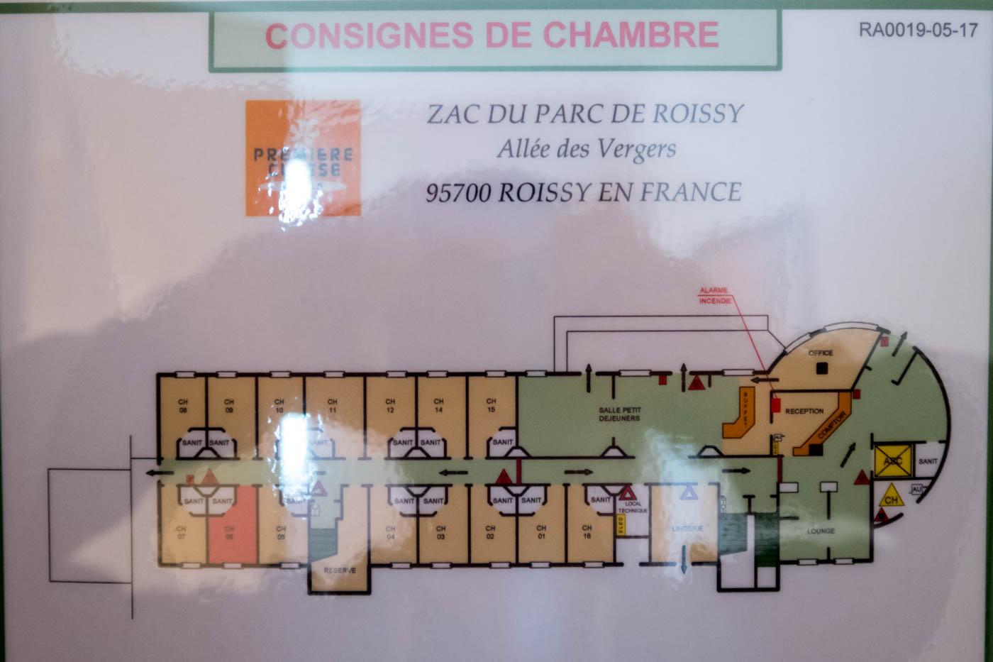 Premiere Classe Roisy-en-France Floor Plan