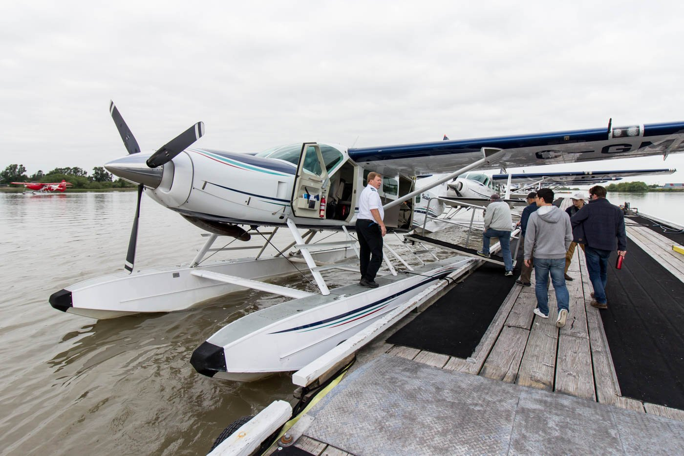 Boarding Seair Seaplanes in Richmond