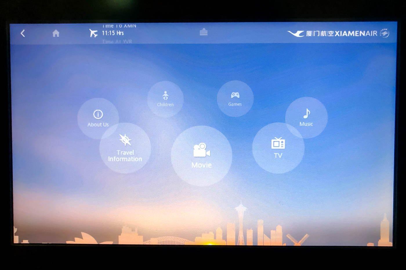 Xiamen Air In-Flight Entertainment System