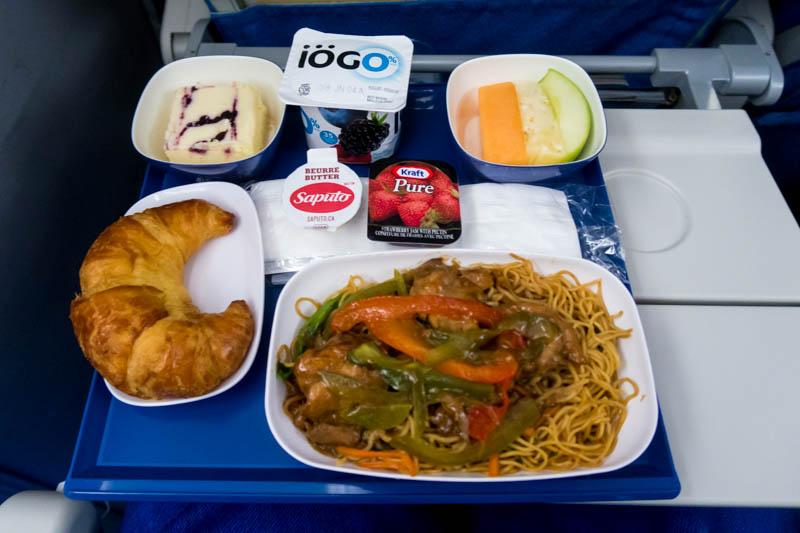 Xiamen Air Economy Class Breakfast