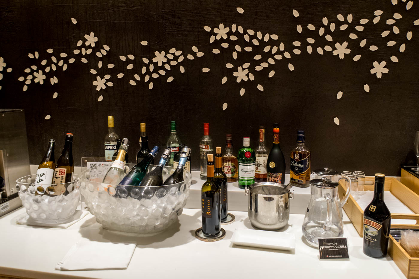 Alcoholic Drinks in JAL Sakura Lounge International Terinal