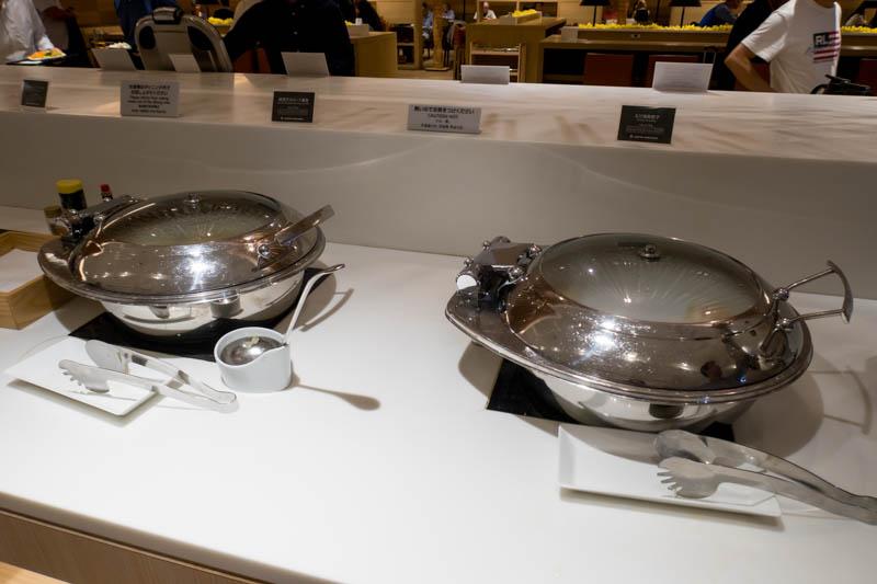 Food in the JAL Sakura Lounge at Tokyo Haneda International Term