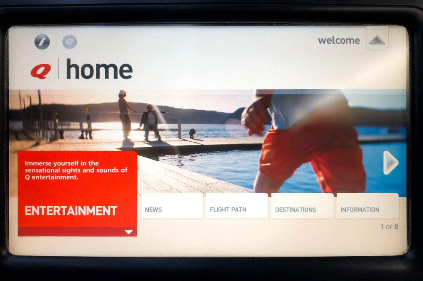 Qantas 737-800 In-Flight Entertainment System