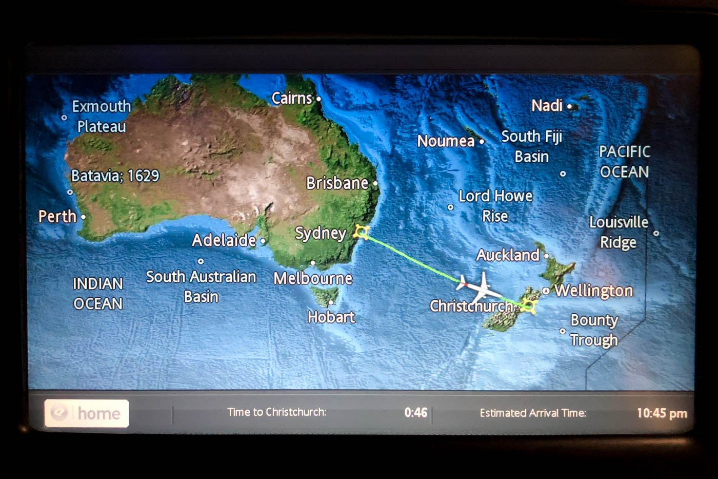 Qantas Moving Map