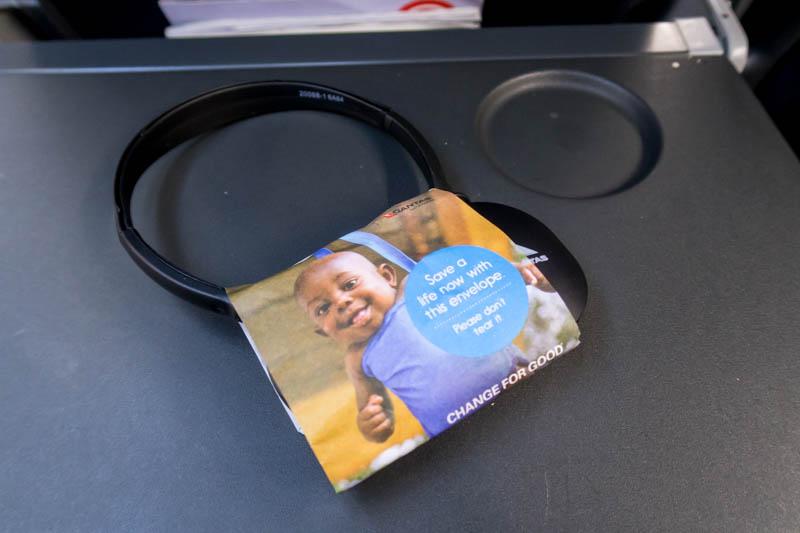 Qantas Economy Class Headset