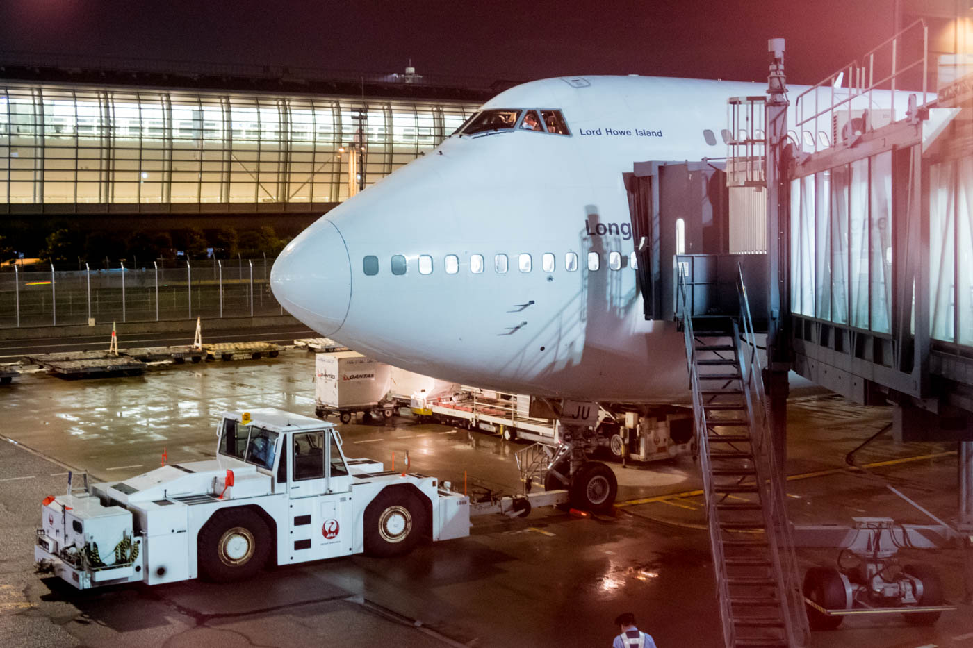 Qantas Boeing 747-400 at Tokyo Haneda