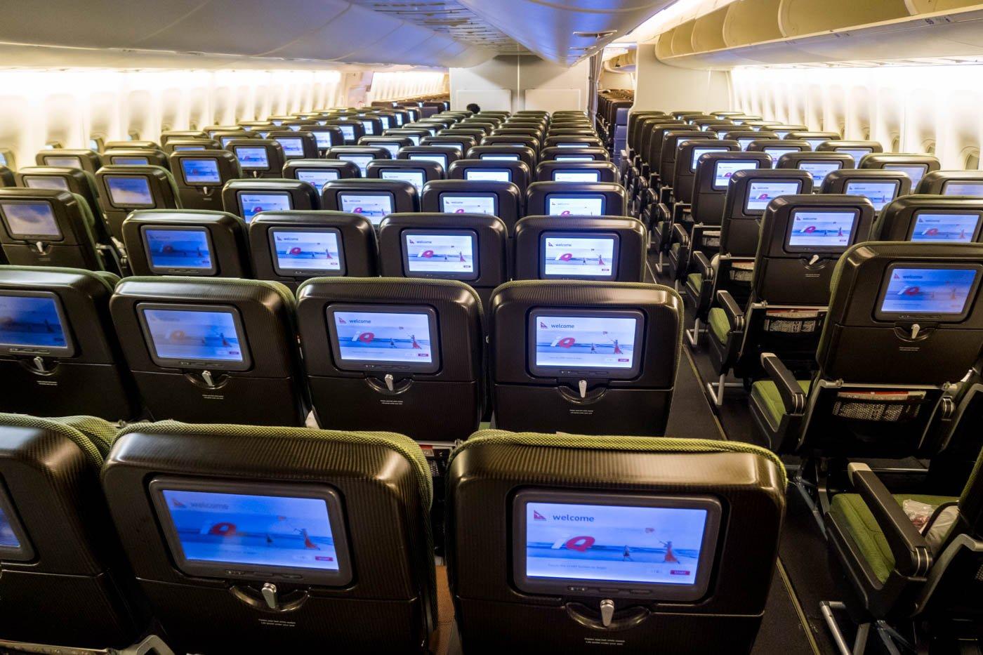 Qantas 747 Economy Class Layout