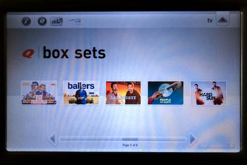 TV Show Box Sets on Qantas IFE