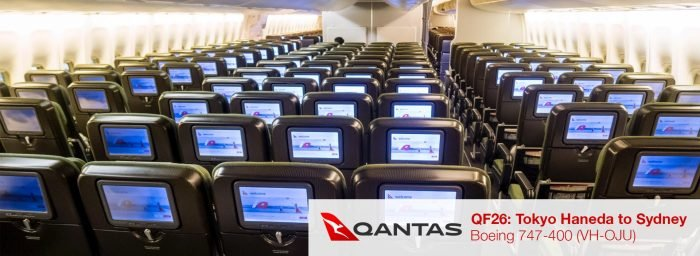 Flight Review: Qantas 747-400 Economy Class from Tokyo Haneda to Sydney