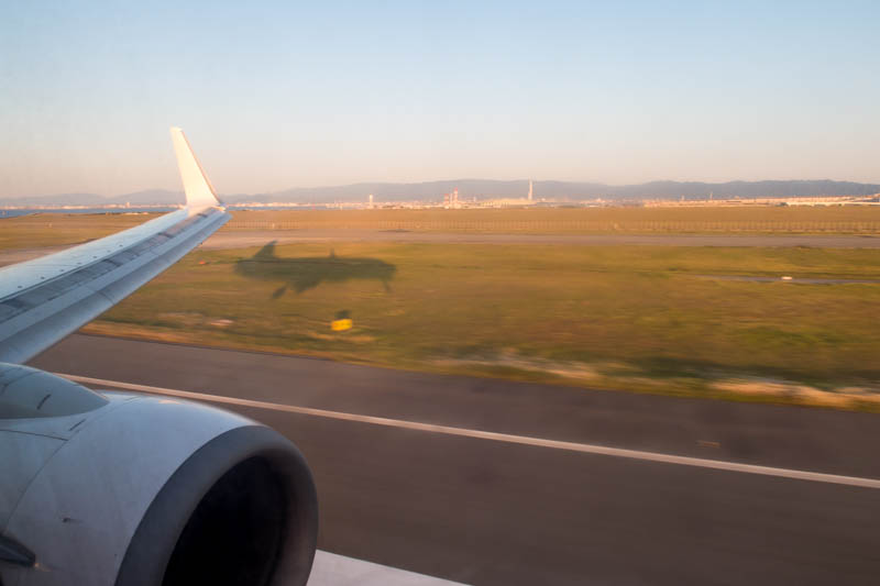 Landing in Osaka