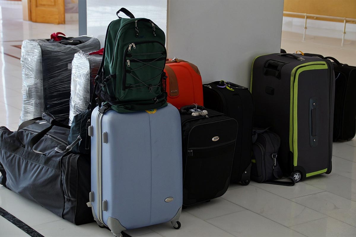 Color of a Luggage Set