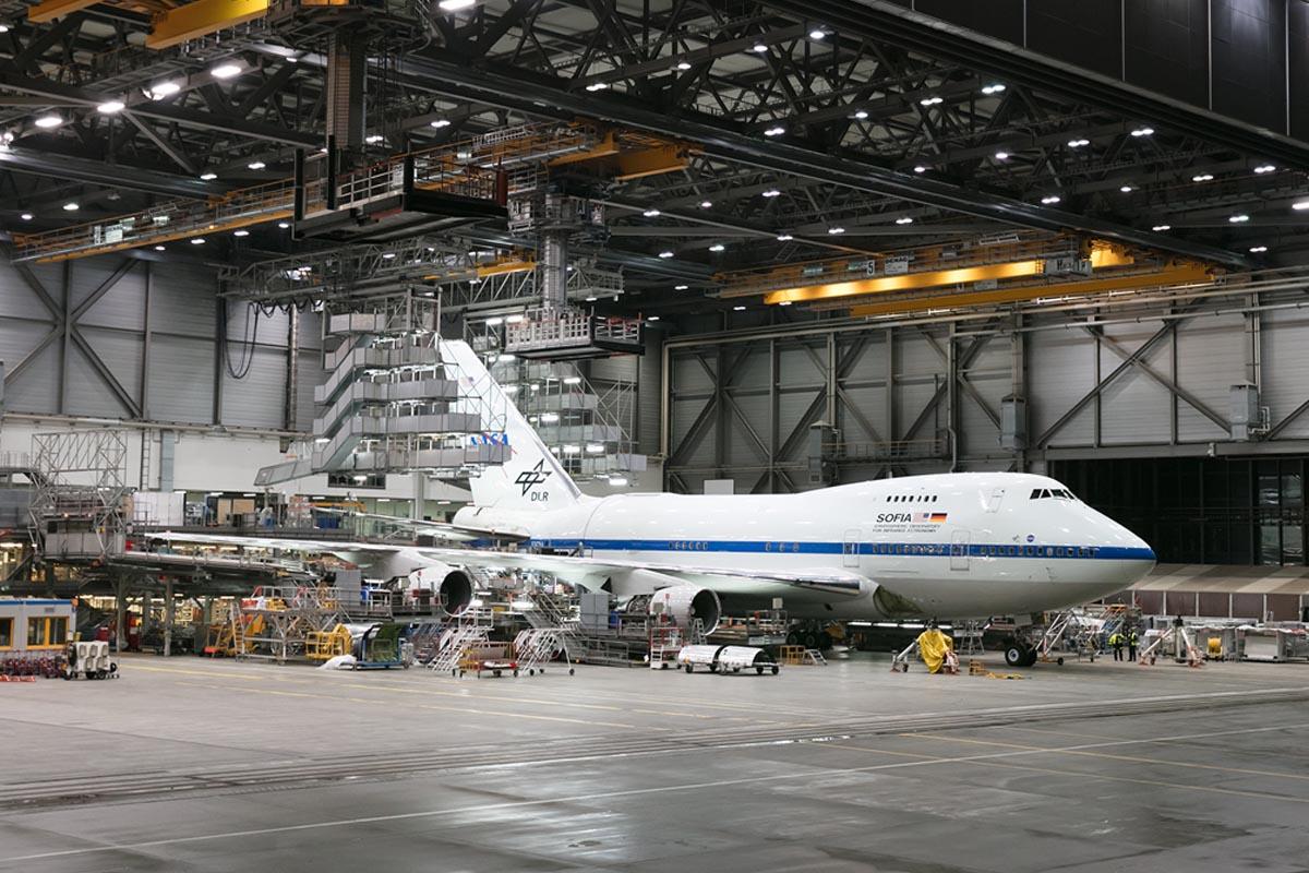 SOFIA Undergoing Maintenance at Lufthansa Technik
