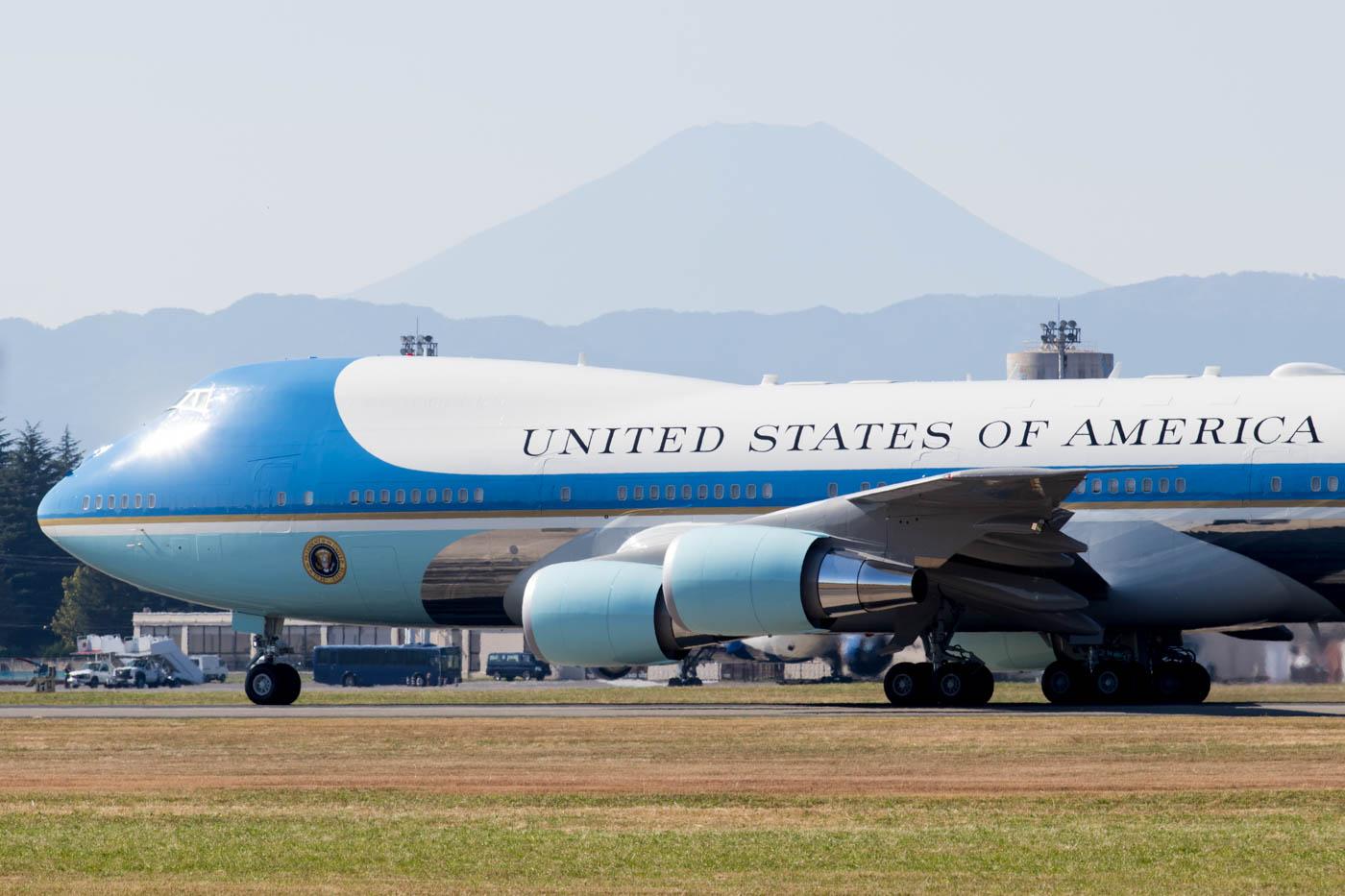 Air Force One at Yokota Air Base