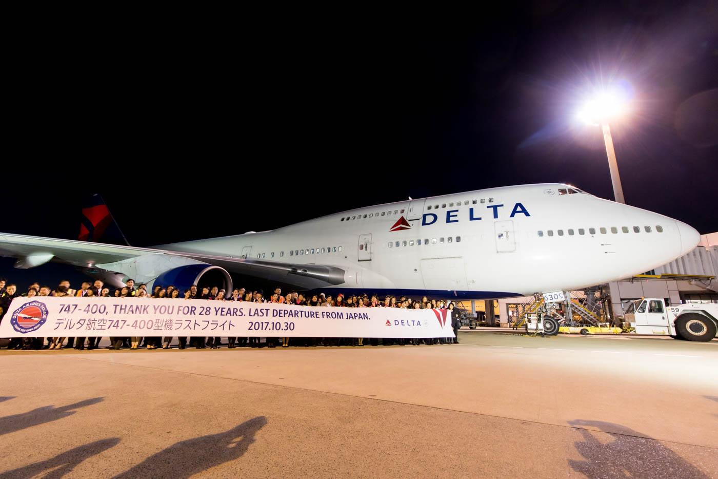 Delta Air Lines Boeing 747-400 at Tokyo Narita