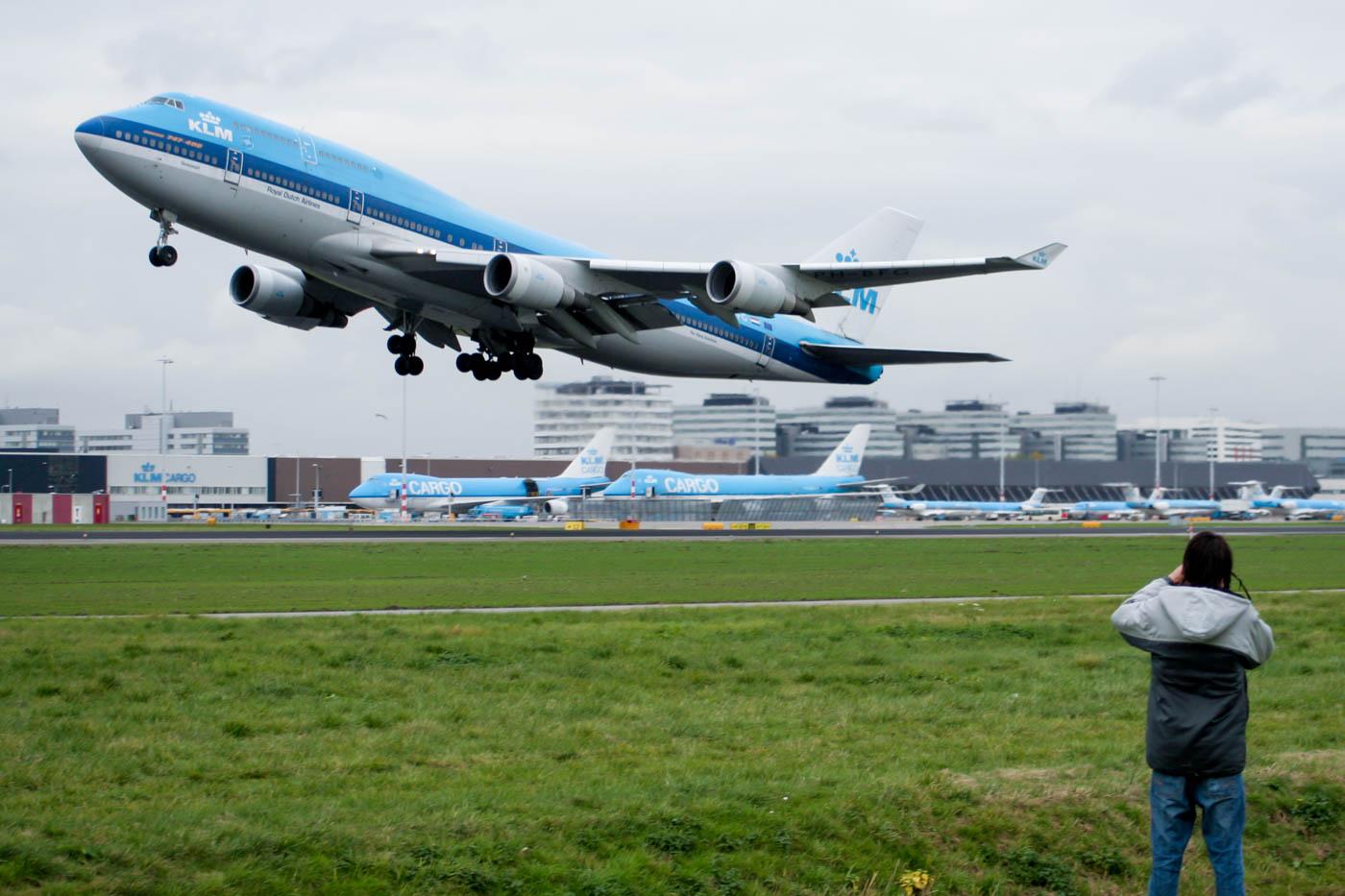 KLM Boeing 747-400 at Kaagbaan