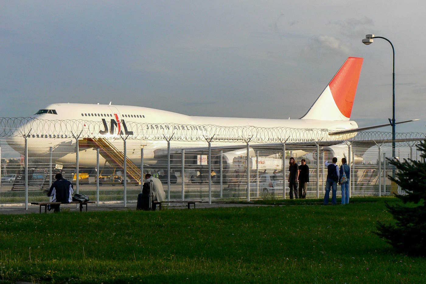 Japan Airlines 747-400 at Bratislava Airport