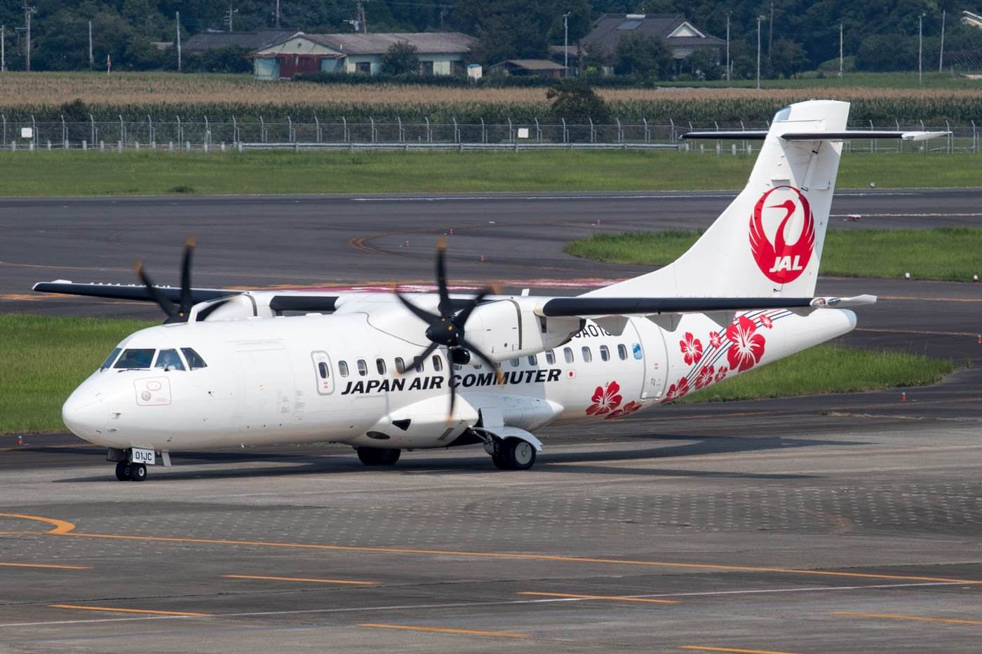 Japan Air Commuter ATR at Kagoshima Airport