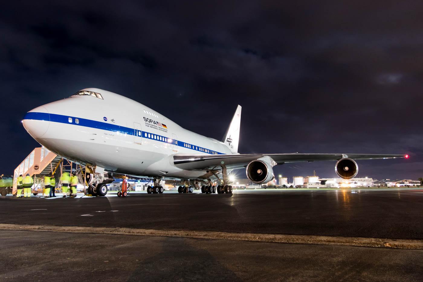 NASA SOFIA Boeing 747SP at Christchurch Airport