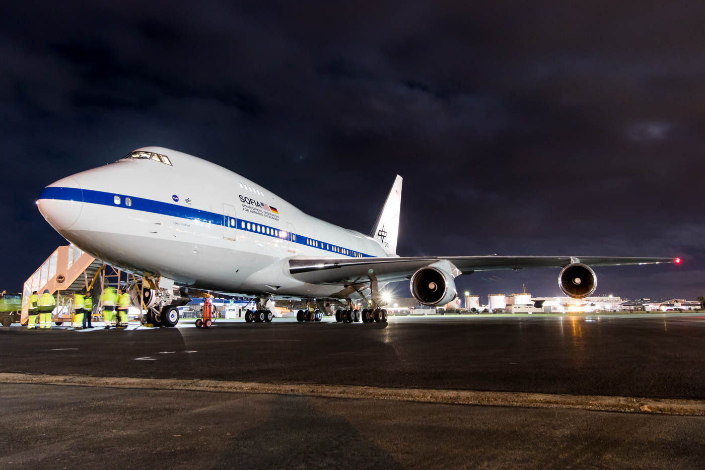 NASA Boeing 747SP SOFIA N747NA at Christchurch Airport