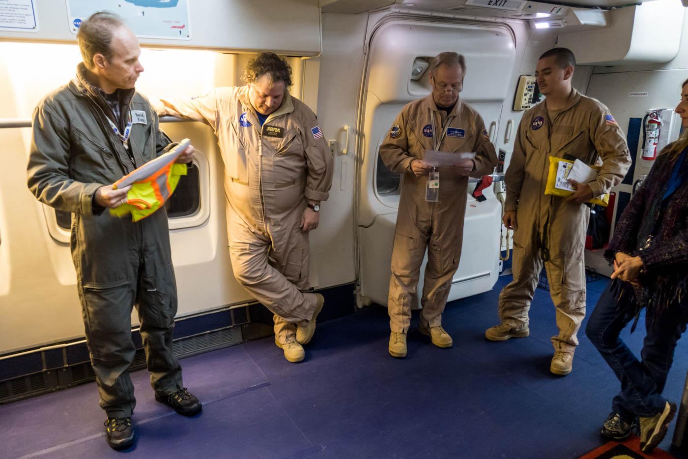 NASA SOFIA Pre-Departure Safety Briefing