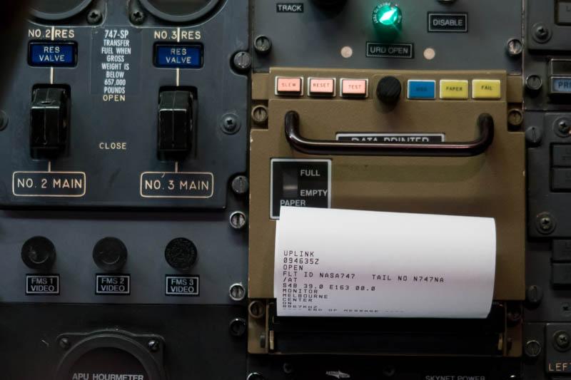 Cockpit Data Printer