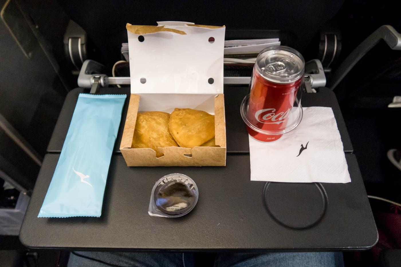 Pre-Landing Snack on Qantas